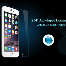 "wholesale 500pcs 0.26mm 9H 2.5D arc edge explosion proof tempered glass screen protector for iphone 6 6s 4.7""+retail package"