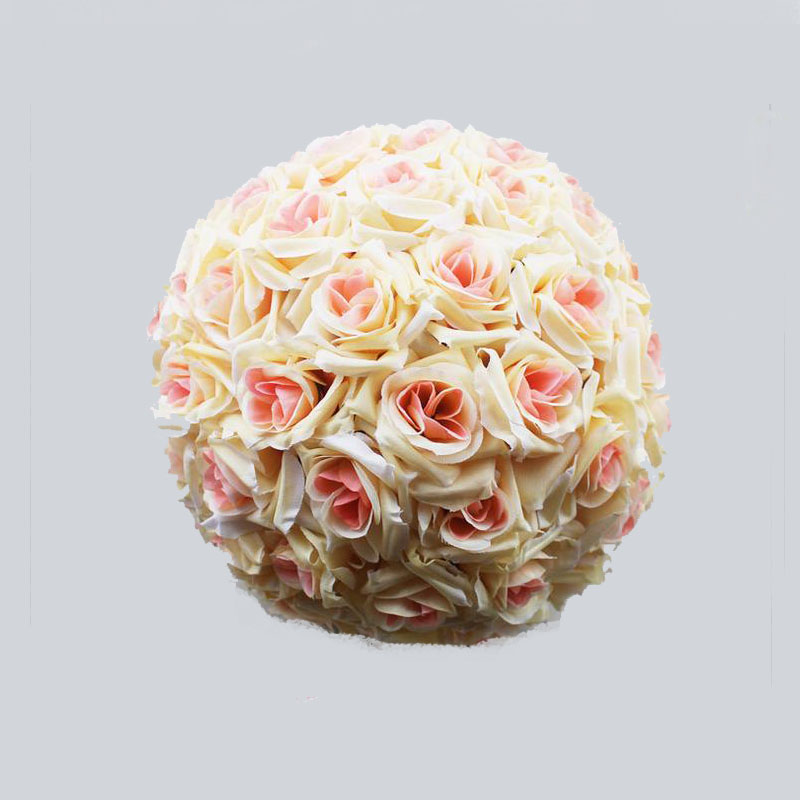 """8""""(20cm) Champagne Silk Kissing Artificial Rose Flowers Ball for Wedding Tea Party Decoration Christmas Decoration Supplies(China (Mainland))"""