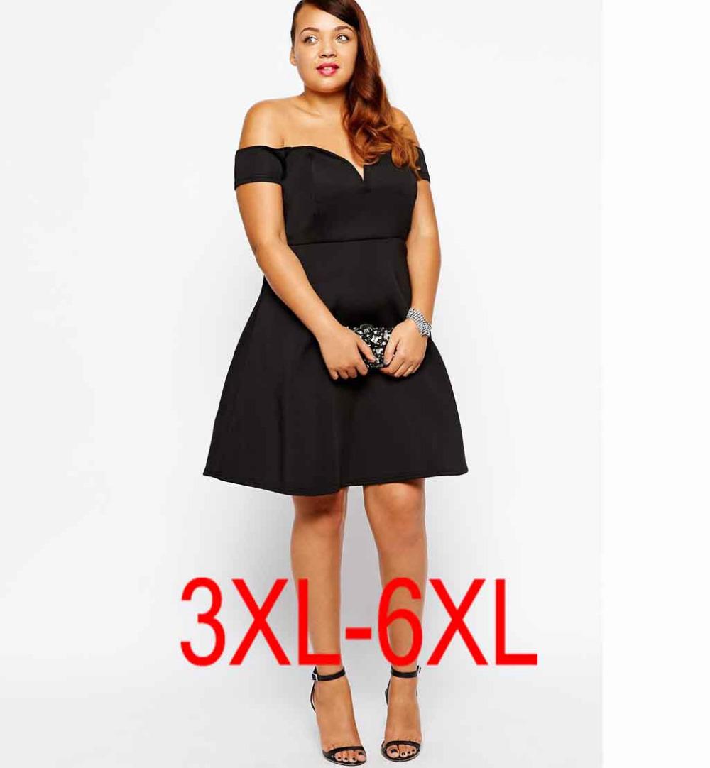 plus size 4XL 5xl sexy women dress fat ladies evening ...