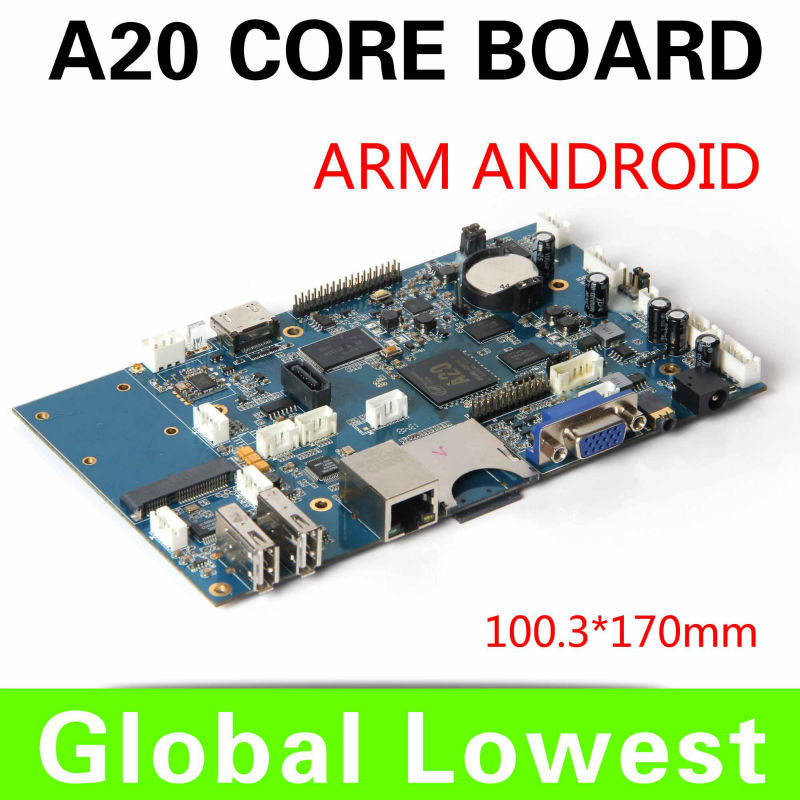 hot sale mini main board tiny motherboard allwinner A20 1.0ghz motherboard with TF/SD card/ wifi Support 1080P<br><br>Aliexpress