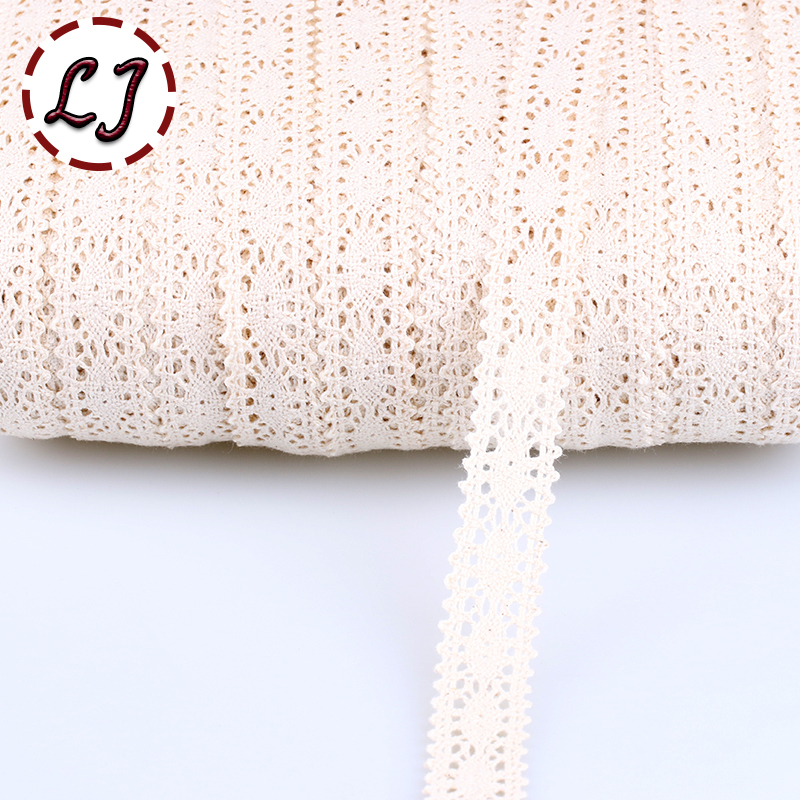 2015 new hot sale 5yd/lot high quality beige design lace fabric ribbon cotton lace trim sewing material accessories hb009(China (Mainland))