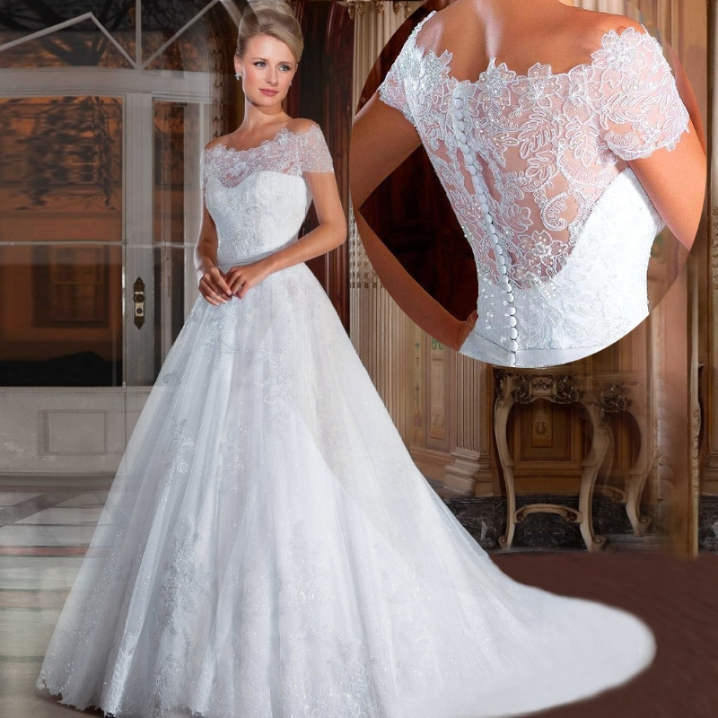 2016 luxury wedding gowns bride dresses high for Old western wedding dresses
