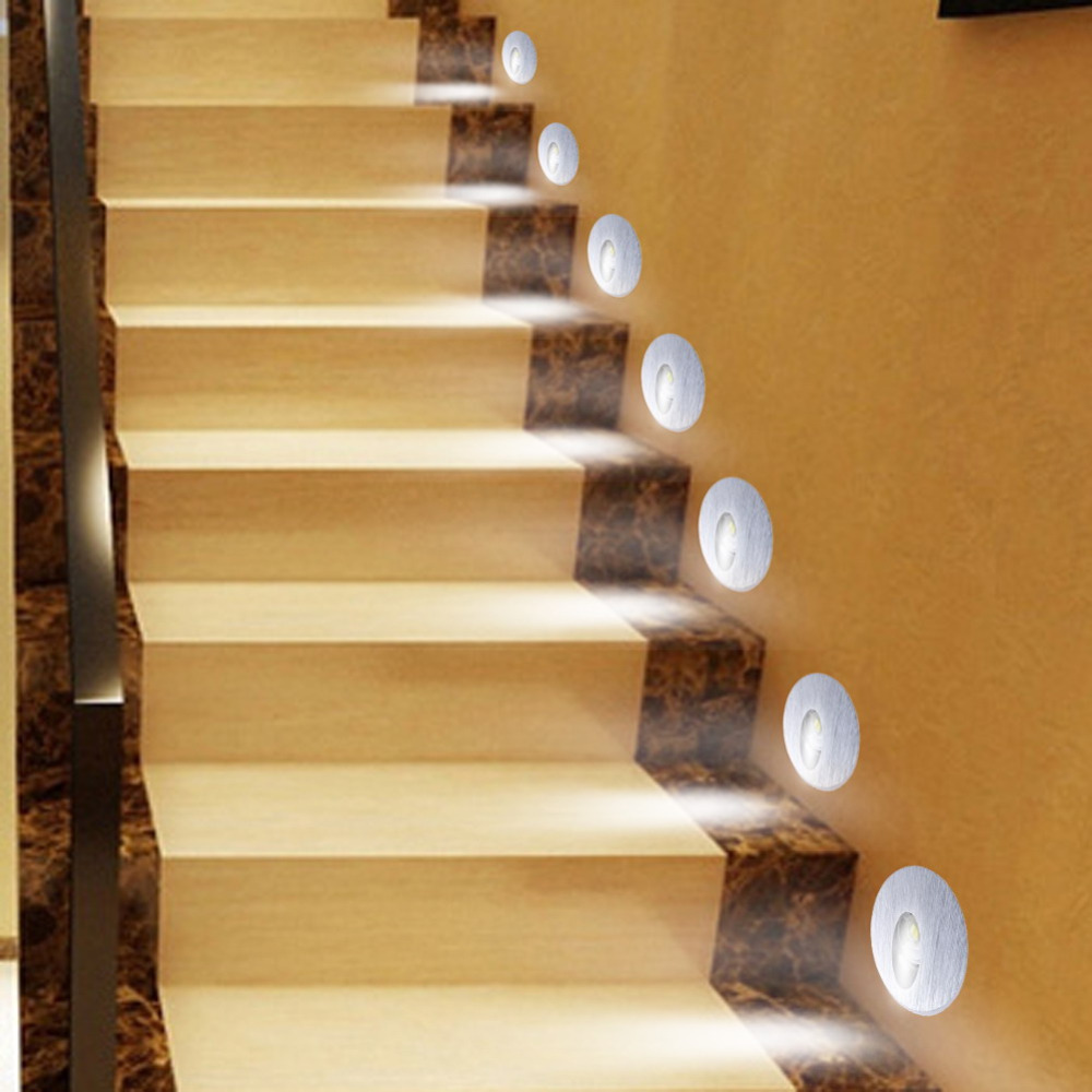 New 1W Holding-down Led Lamp Ladder Led Stairs Light Led Wall Light Lamps Home Decorative Light(China (Mainland))