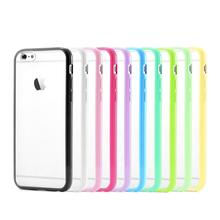 New Silicone TPU + PC Matte Clear Back Mobile Phone Accessories bumper Cover for Apple bumper for iphone 6 Plus 5.5″