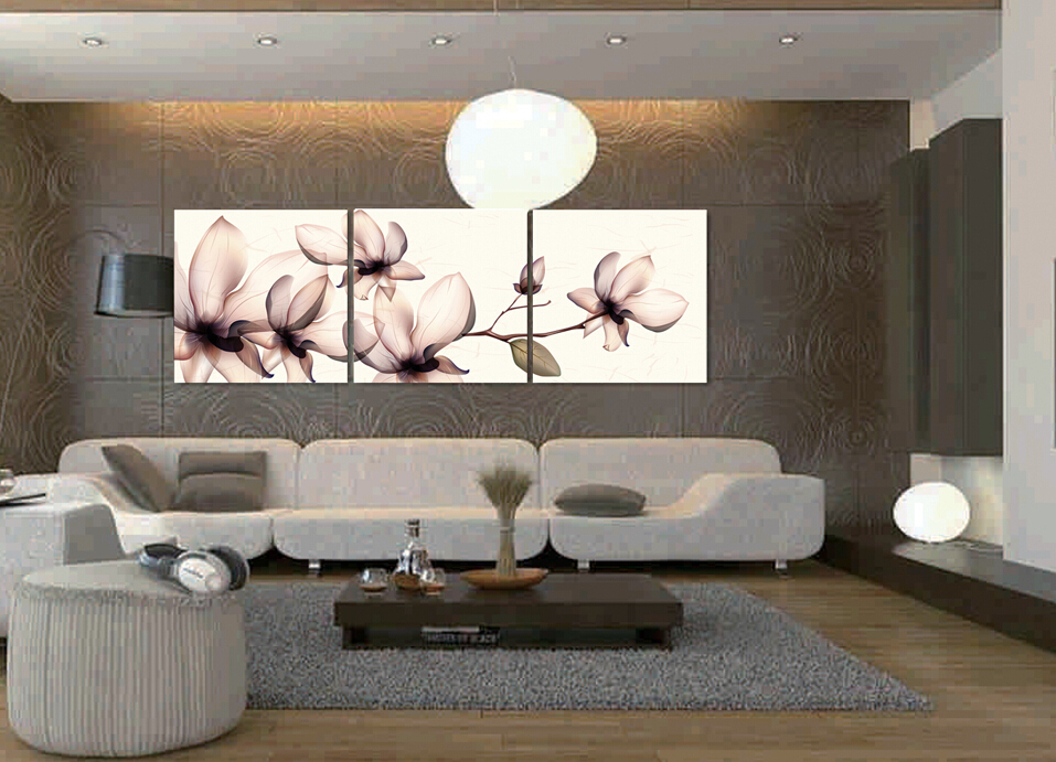 panels living room flower decorative canvas painting wall art modern