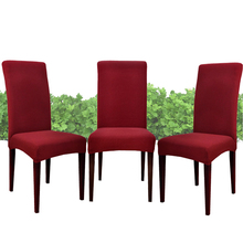 yazi 4pcs Red Removable Super Fit Stretch Short Dining Room Banquet Party Chair Cover Seat Slipcover Protector(China (Mainland))