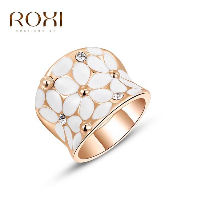 ROXI мода позолоченные женщины кольцо Австрийского хрусталя, Свадебные кольца, ювелирные ...