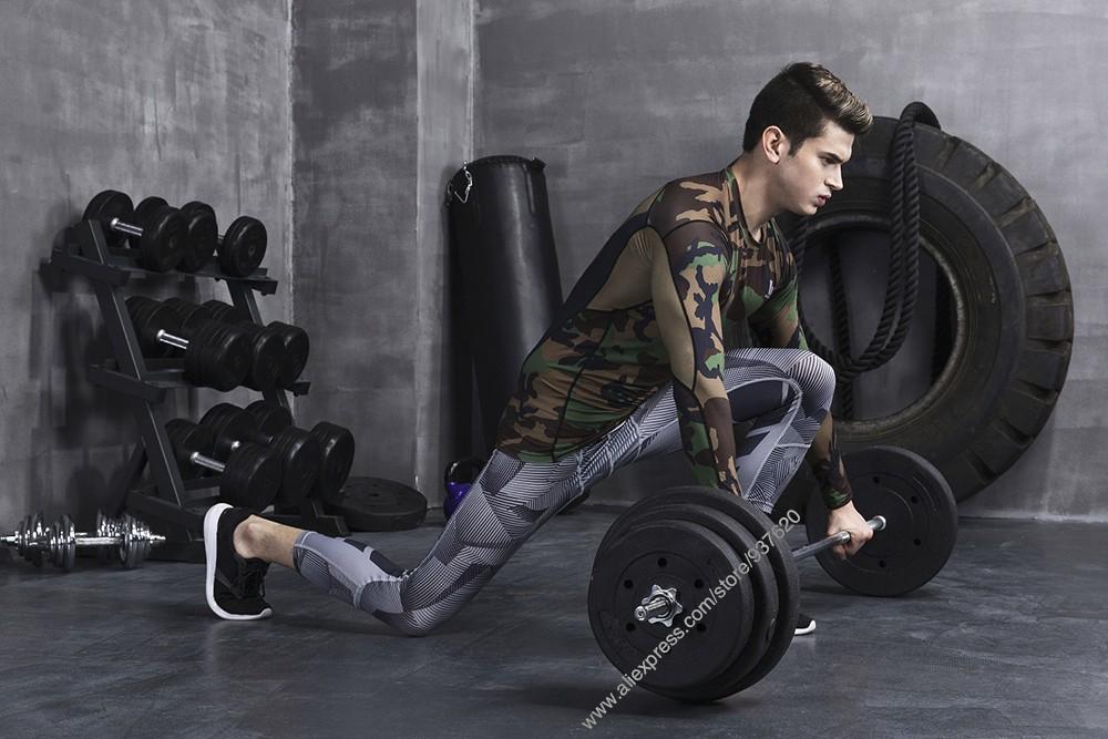 Vansydical Geometric Skinny Sport Yogo Fight Shorts for Men (7)