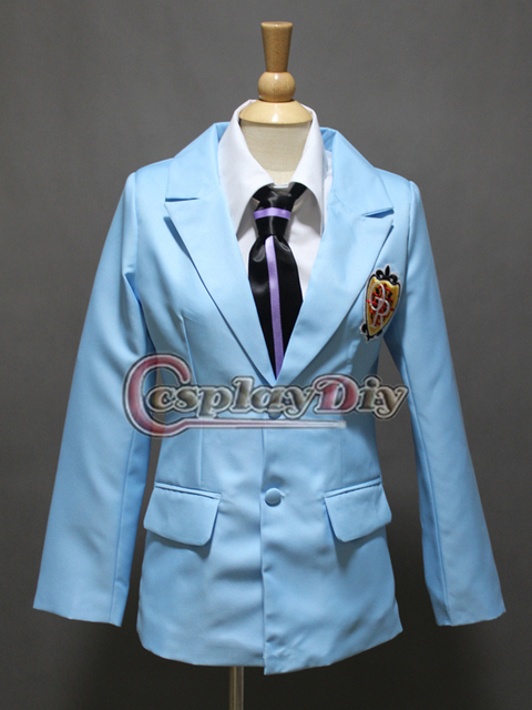 Cheap Custom made Ouran High School Host Club Haruhi Fujioka Jacket Halloween Cosplay Costume