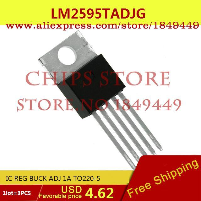 Бесплатная Доставка Электроники LM2595TADJG IC REG BUCK ADJ 1A TO220-5 2595 LM2595 3 ШТ. freeshipping 50pcs lot lm5009mm ic reg buck adj 0 15a 8msop lm5009mm 5009 lm5009 lm5009m 5009m m5009
