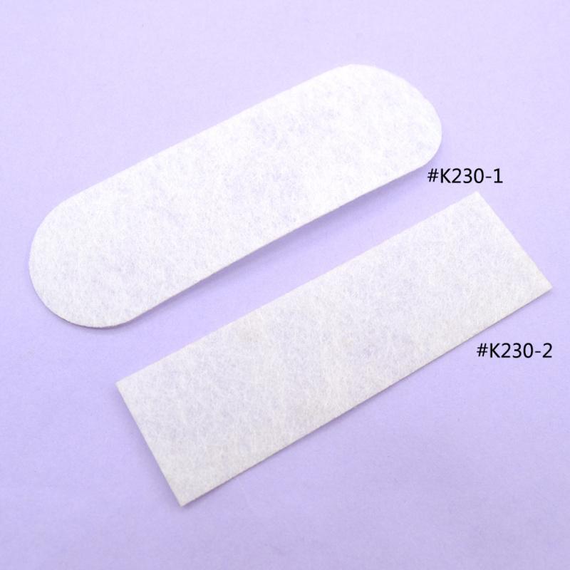100pcs/lot White Long Oval Rectangle Shape Padded Felt Craft DIY Appliques Clothing Decoration(China (Mainland))