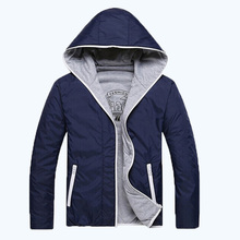 2016 free shippinghoodies men casual fashion style thin solid color sport two-sided jacket men 2colors M-3XL 45(China (Mainland))