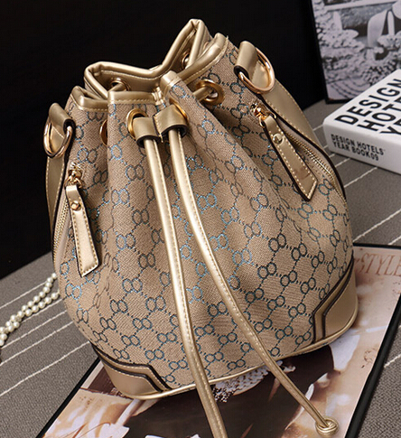 Женская сумка-мешок сумки лета 2015 натуральная кожа Messenger сумка мода шнурок мешок рюкзак плед мини