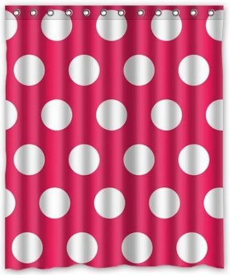 Red Polka Dot Shower Curtain