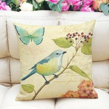 Buy New Upgrade Section 2017!Painting Birds Printing Dyeing Soft Pillow Cover Cushion Case Real Betis Pillow Cases Book Li for $2.47 in AliExpress store