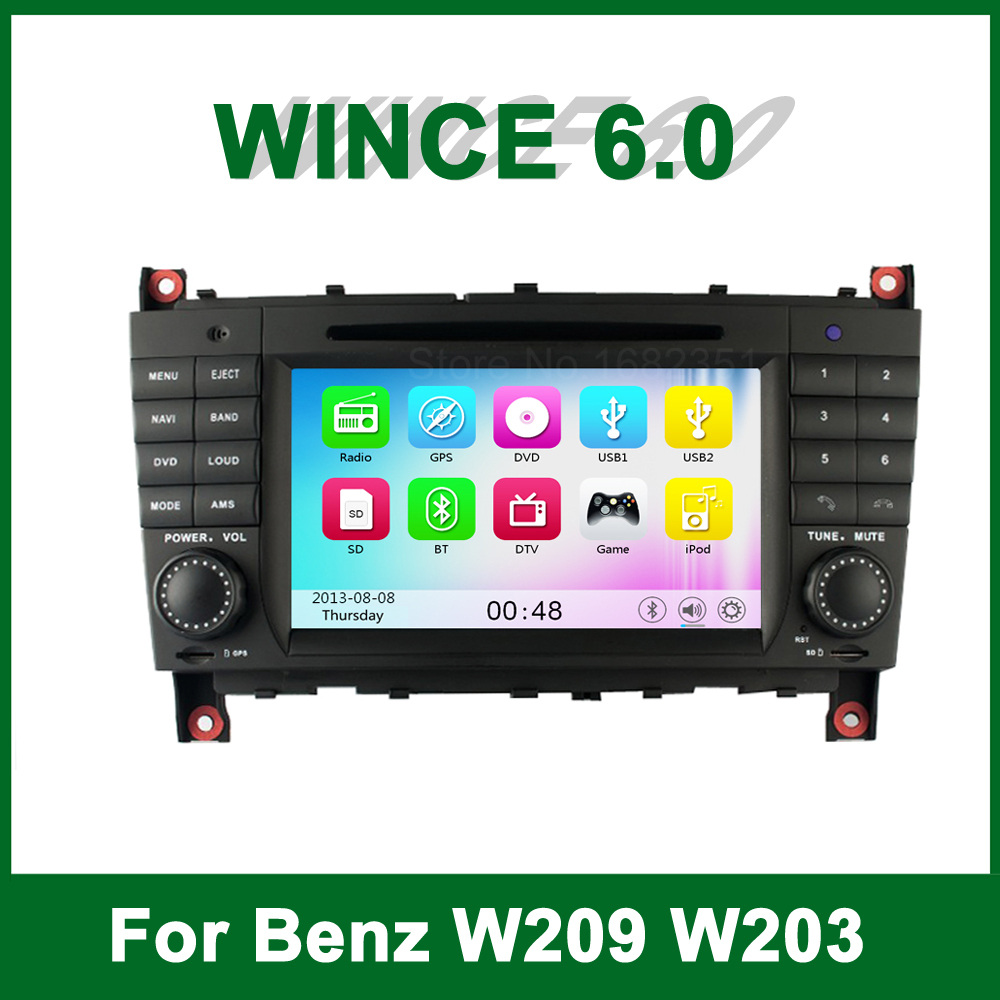 acheter gratuit carte voiture lecteur dvd gps pour mercedes benz w209 w203 w219. Black Bedroom Furniture Sets. Home Design Ideas