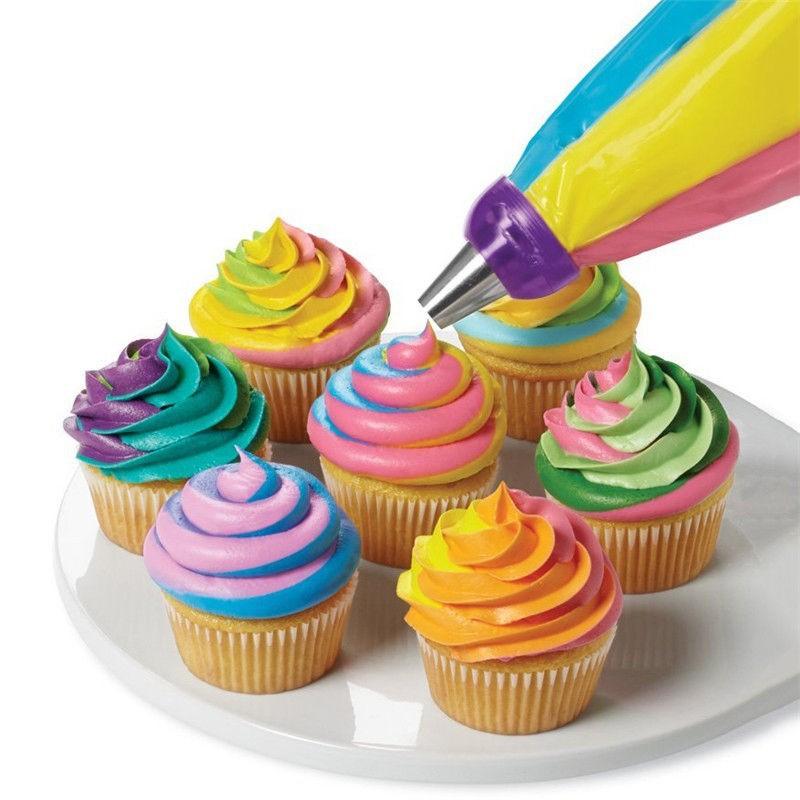 3 Hole 3 Color Icing Piping Bag Nozzle Converter Tri-color Cream Coupler Cake Decorating Tools Cupcake Fondant CookieA819(China (Mainland))