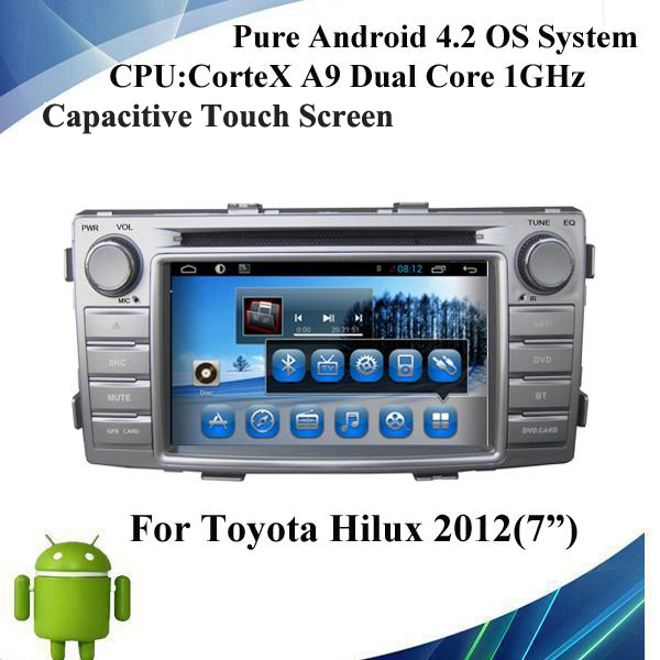 Pure Automobile Vehicle Car Video Player For Toyota Hilux 2012 DVD Radio Audio Video Player Ipod Bluetooth TV Wifi 3G Hot resell(China (Mainland))