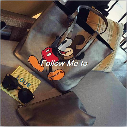 new spring and summer 2015 real leather fashion lady portable mouse one shoulder bag shopping bag steamed stuffed bun female bag(China (Mainland))