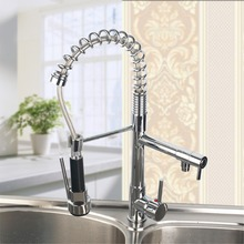 Buy Chrome Finished Single Handle Double Spout Kitchen Faucet Deck Mounted Kitchen Vessel Sink Mixer Tap Hot&Cold Water Mixer Tap for $44.98 in AliExpress store