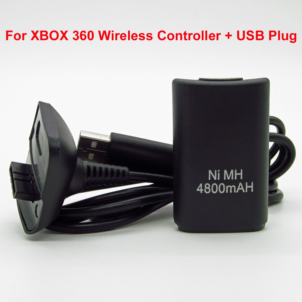 2015 Hot Sale 4800mAh Ni-MH Rechargeable Battery Pack with USB to DC Charging Cable For Microsoft Xbox 360 Wireless Controller<br><br>Aliexpress