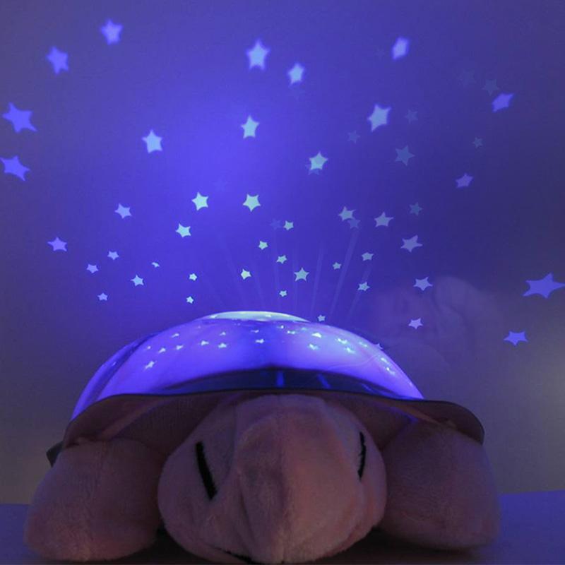 Turtle Novelty Projector Lamp USB Music Sky Constellations Night Light(China (Mainland))