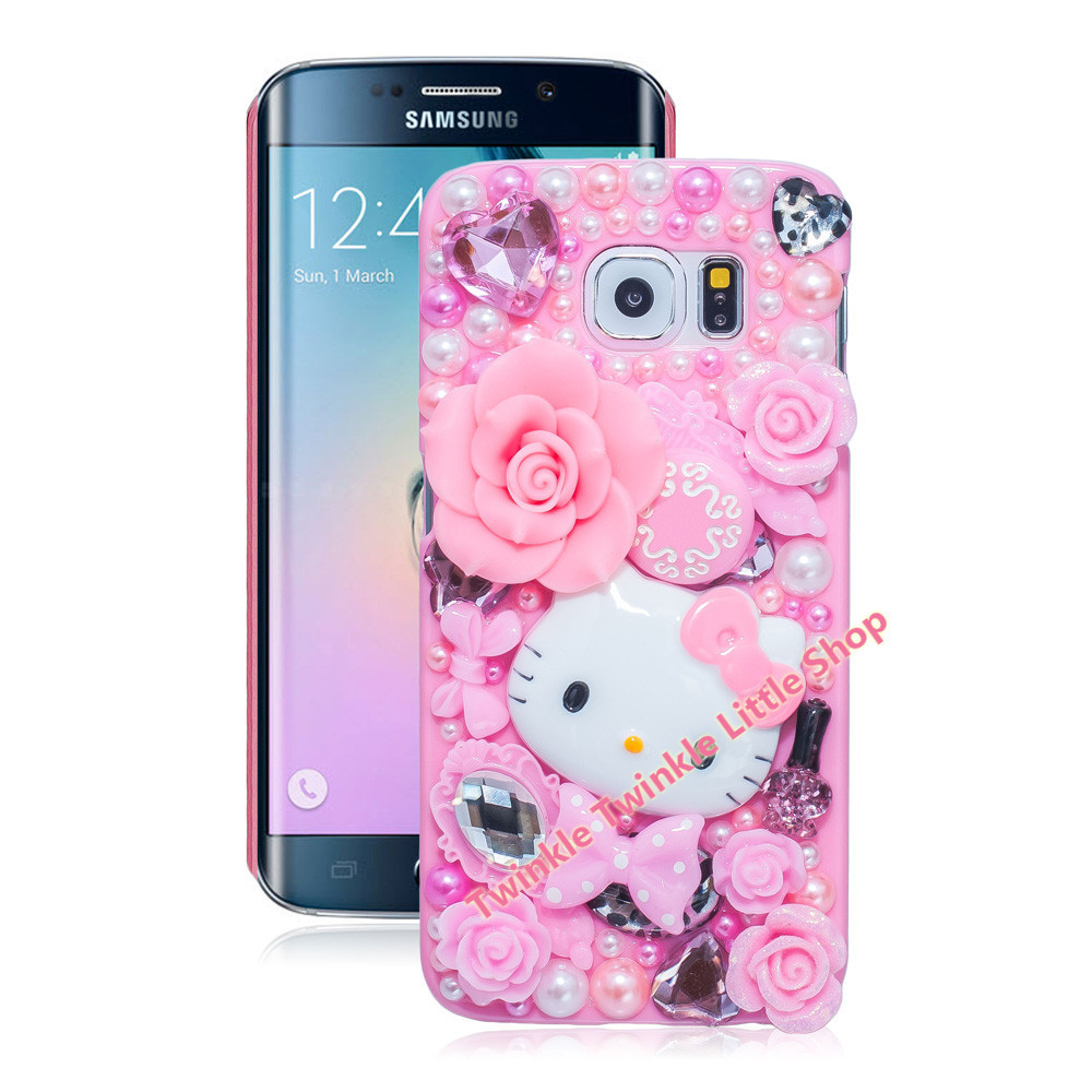 Cute Hello Kitty Case For Samsung Galaxy S7 edge S6 S4 S5 S6 edge S7 Note4 Note5 Note2 Note3 Phone Cases Accessories Protector(China (Mainland))