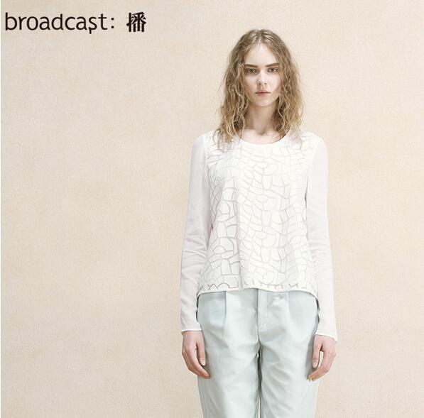 Free shipping broadcast women brand 2015 autumn solid color short fashion leisure shirt long sleeve women shirts BDH3CB1848(China (Mainland))
