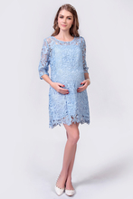 Pregnant Lace Plus size Brand Maternity Dresses Clothing Women Dress Tops Spring Autumn Fashion Short sleeve dress