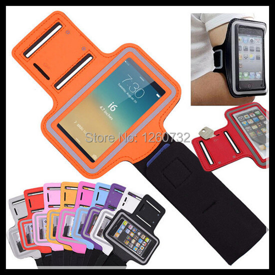 10 Color Retail High Quality Waterproof Armband Case for iphone 6 4.7 Fashion Belt Wrist Strap Arm Band Phone Bag for iphone6(China (Mainland))
