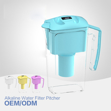 Alkaline Water Filter Jug 2.5L Slim Alkaline Water Ionizer Pitcher with alkaline pH and low negative ORP enjoy mineralized water(China (Mainland))