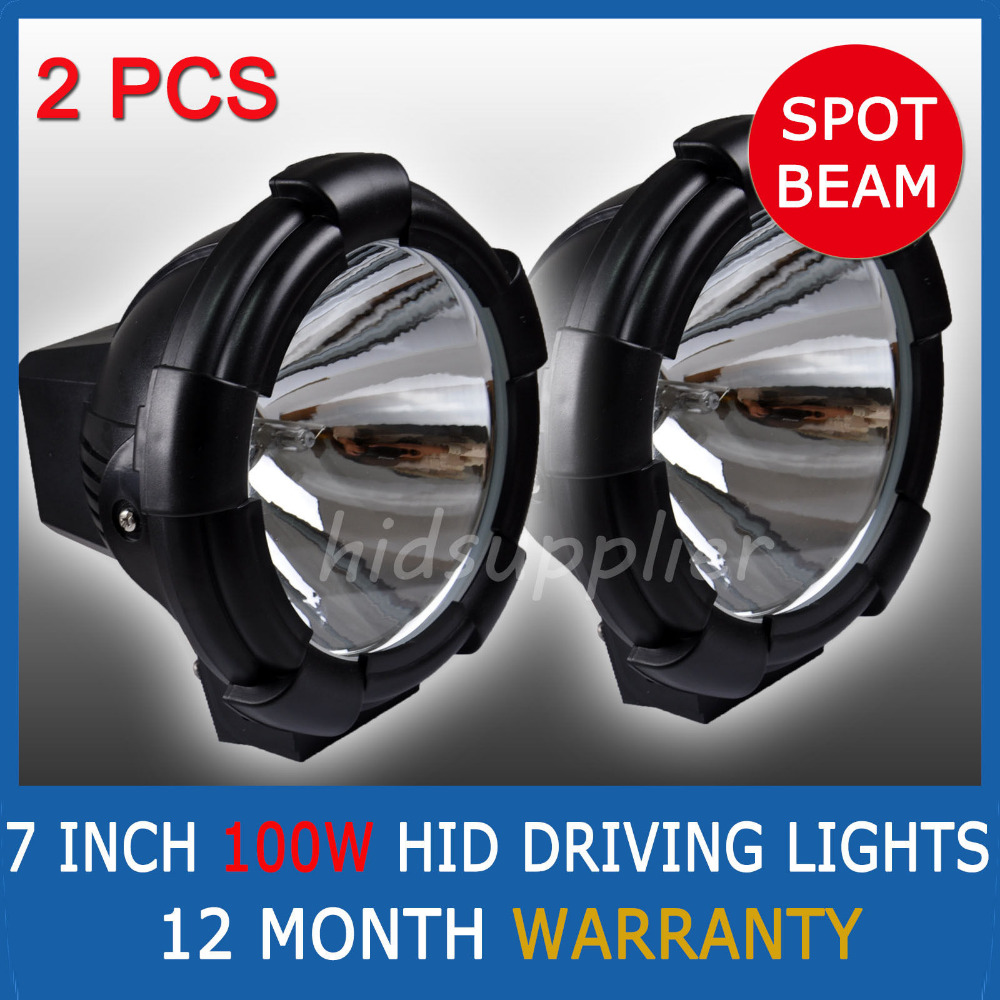 Pair 7Inch 100W HID XENON DRIVING SPOT OFFROAD WORK LIGHTS 4WD 4X4 <br><br>Aliexpress