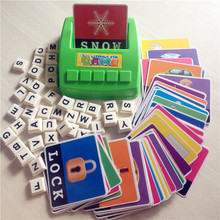 Free Shipping Learn English Word Puzzle Toy Children's Educational Toys Baby Literacy Fun Game