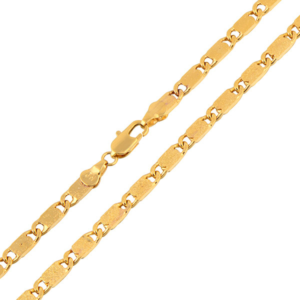 Wholesale Fashion Classic Gift 45cm 18K Yellow Gold Plated Chain Necklace For Women Men Vintage arabic Jewelry Nickel Free(China (Mainland))