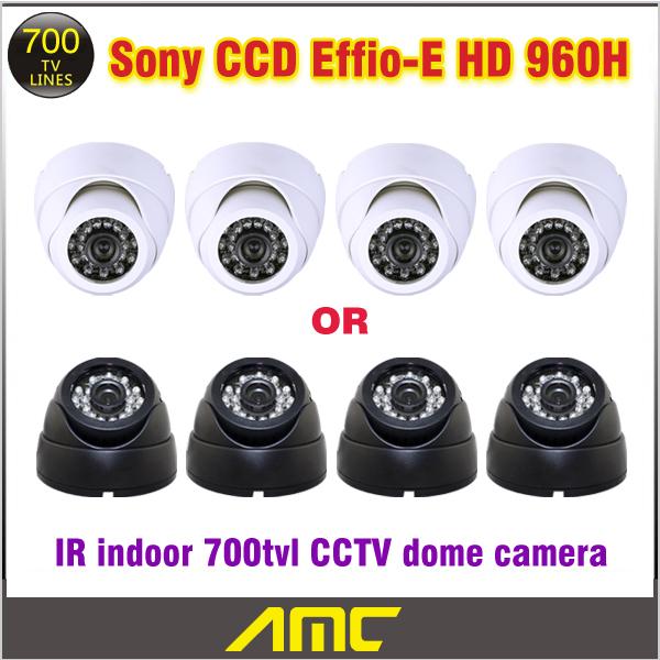 700tvl  HD 960H Genuine 1/3'' Sony CCD Effio-E 24leds IR indoor Security CCTV dome camera surveillance camera Factory union