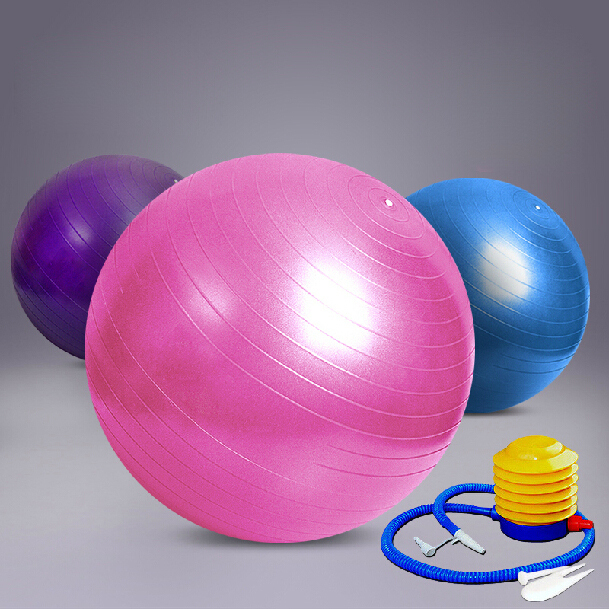 2015 New 55cm Yoga Ball Health Balance Pilates Fitness Gym Home Exercise Sport with Air Pump,Pink,Blue,Purple Color Ball Pump(China (Mainland))