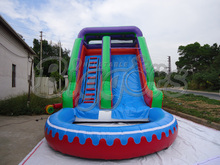 Hot selling pvc commercial Inflatable water slide,water game inflatable slide with a pool for sale(China (Mainland))