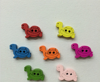 50 Mixed Colours 2 holes  turtle wooden buttons  for Sewing, Scrapbooking, , Crafts, Jewellery making, 19x11mm AE03138