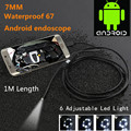 Waterproof 480P HD 7mm lens Inspection Pipe 1m Endoscope Mini USB Camera Snake Tube with 6
