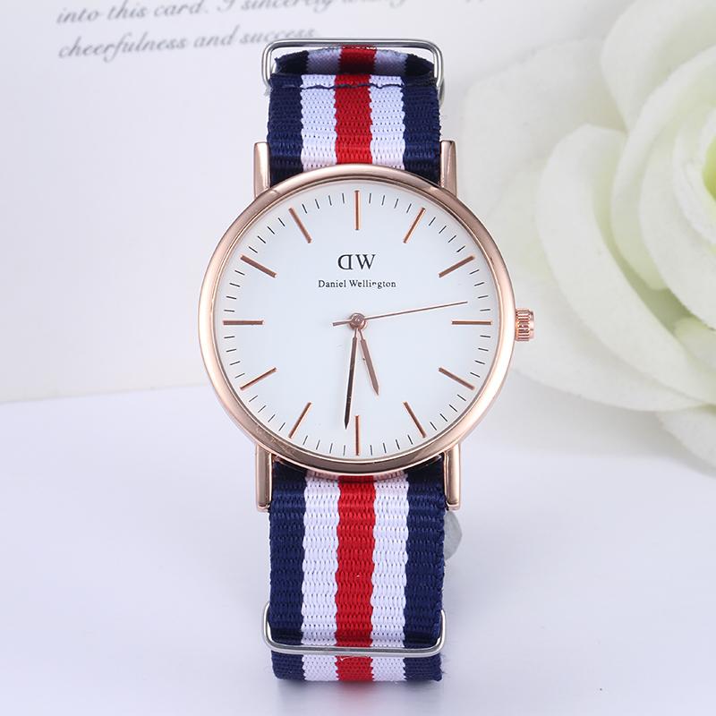 Daniel Wellington Watches Women Fashion Casual Gold Quartz Watch High Good Quality Watches Men Nylon Sports
