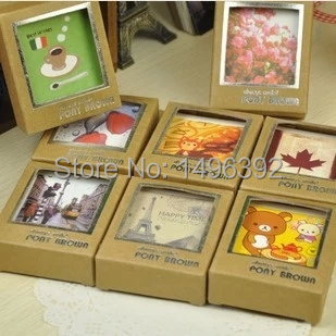 40pcs/lot Cassette Lomo Mini Cards Happy Life Style Cartoon DIY Cards Gift Cards Blank Postcard Greeting Card for Friends(China (Mainland))