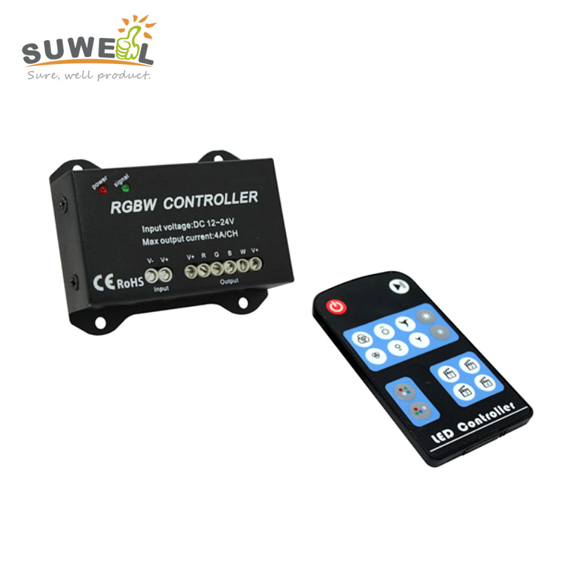 dc 12-24v rgbw led controller with rf remote control rgb or rgbw strip dimmer 39 modes output 4 channels 4A/channel(China (Mainland))