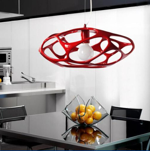 Простые современные смолы сетка клетка творческая мода droplight подвесной светильник
