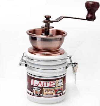 Гаджет  Hand coffee grinding machine grinding machine core ceramic canister large capacity manual coffee mill water wash None Бытовая техника
