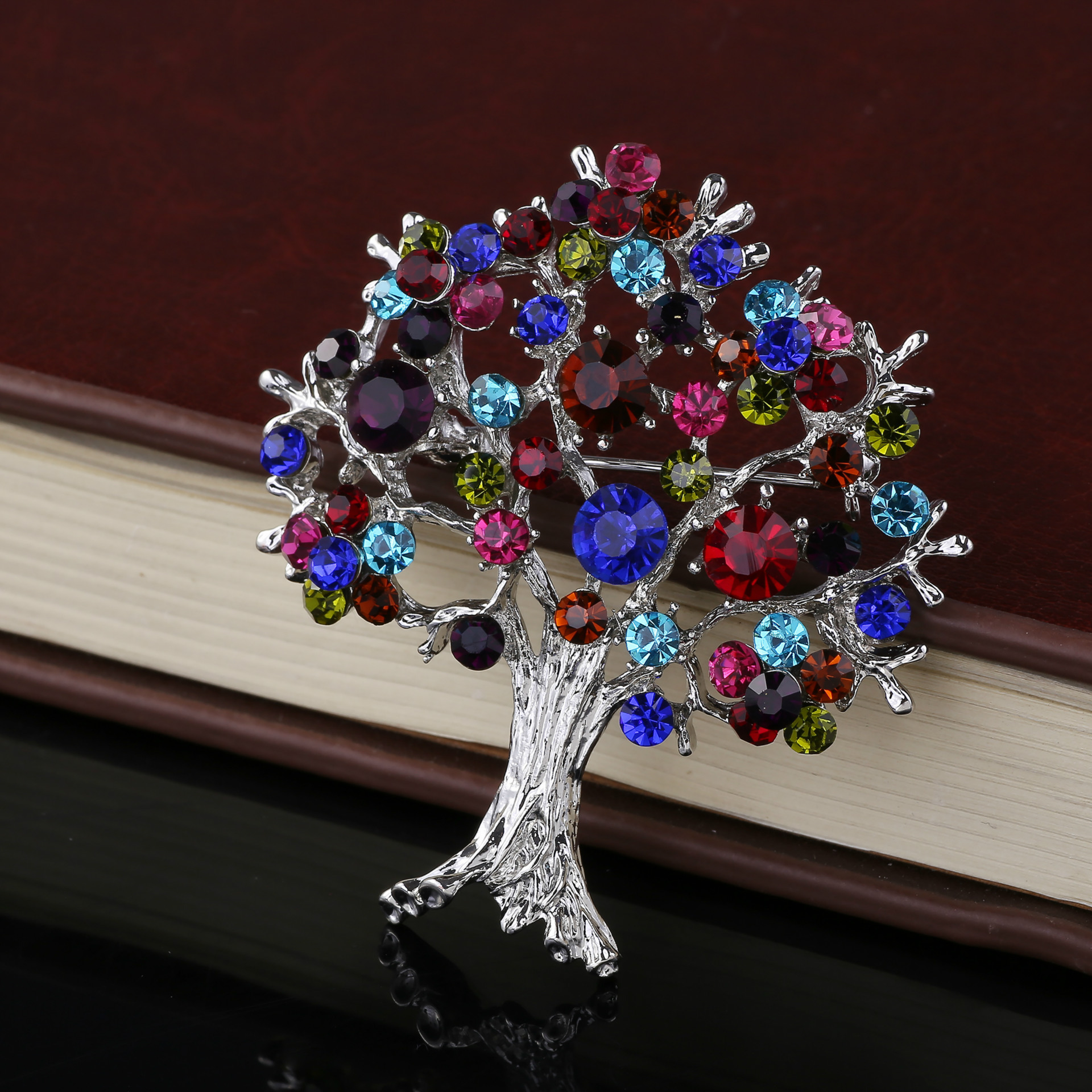Korean Life Stars Tree Alloy Brooch Shawl Buckle For Wedding Corsage Scarf Wholesale Unisex(China (Mainland))