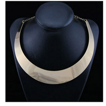 Hot Sale Chunky Necklace Gold Plated Silver Plated Punk Style Choker Necklace Jewelry Collier Necklaces For