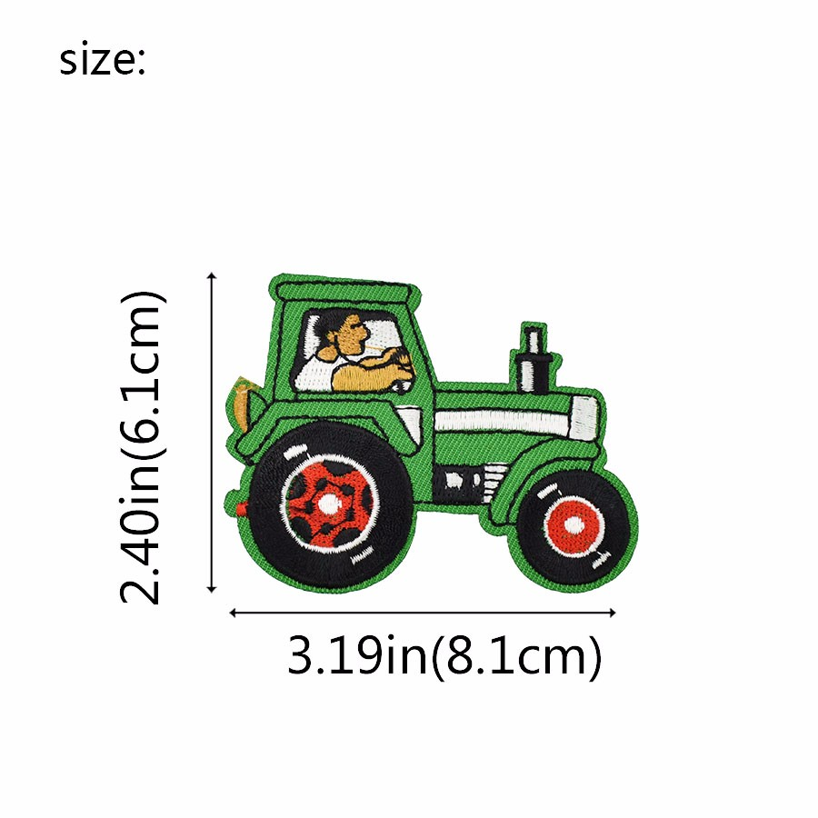 TRACTOR FARM FARMING   Embroidered Sew Iron On Cloth Patch Badge APPLIQUE