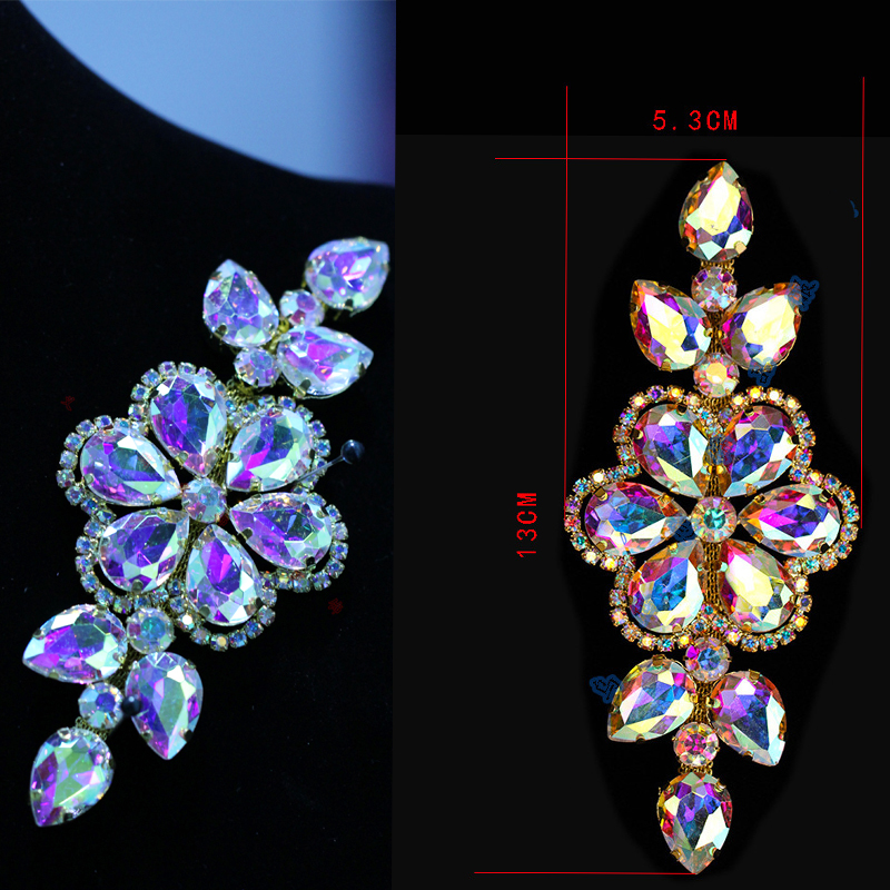 4 Style Wedding Rhinestones Applique Crystals For DIY Wedding Evening Dress(China (Mainland))