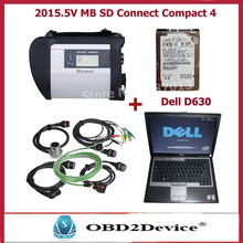 2016 wifi mb star c4 sd connect with hdd V2015.12 MB SD connect C4 software with d630 laptop full set ready to use DHL free(China (Mainland))