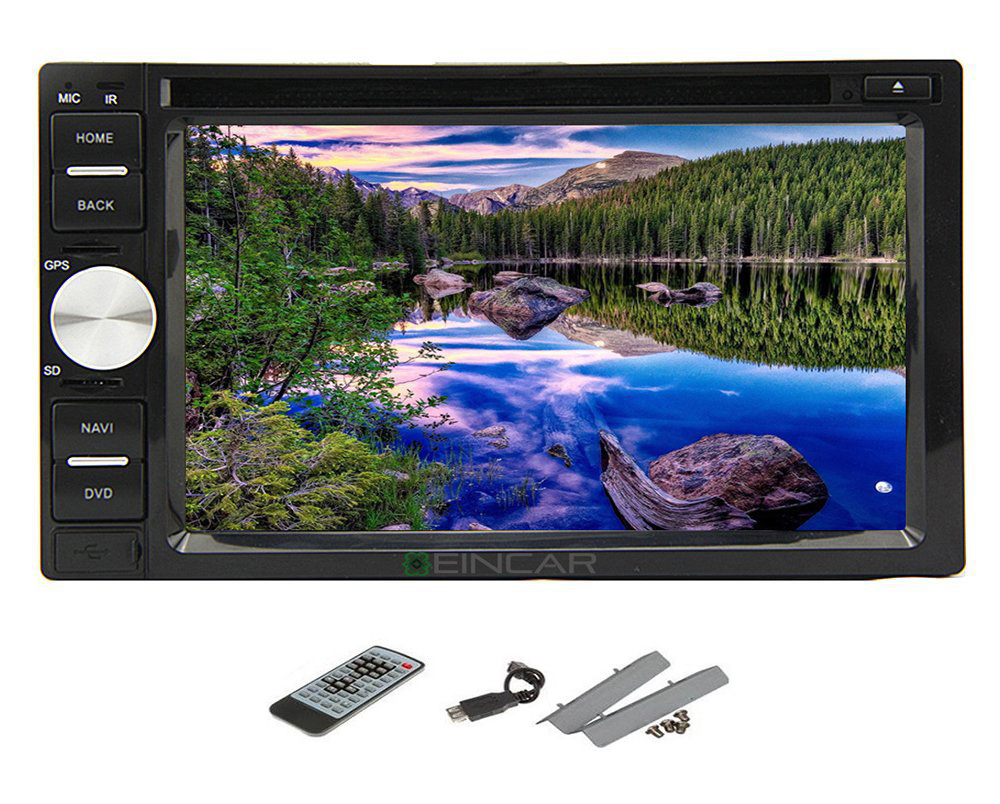 In dash Car DVD CD Player 2 DIN 6.2'' Touch Screen Car Stereo NON-GPS Radio Bluetooth USB SD MIC(China (Mainland))